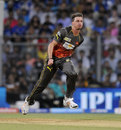 Dale Steyn was the best bowler for Sunrisers Hyderabad, conceding 23 runs in four overs, Mumbai Indians v Sunrisers Hyderabad, IPL 2013, Mumbai, May 13, 2013