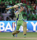 AB de Villiers hit a six off the first ball he played, Royal Challengers Bangalore v Kings XI Punjab, IPL 2013, Bangalore, May 14, 2013