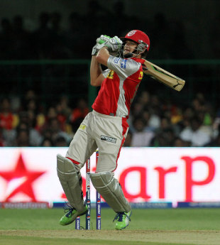 Adam Gilchrist plays a pull shot for four, Royal Challengers Bangalore v Kings XI Punjab, IPL 2013, Bangalore, May 14, 2013
