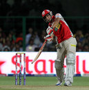 Azhar Mahmood strikes a powerful shot, Royal Challengers Bangalore v Kings XI Punjab, IPL 2013, Bangalore, May 14, 2013
