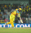 Ravindra Jadeja drives through the offside, Chennai Super Kings v Delhi Daredevils, IPL 2013, Chennai, May 14, 2013