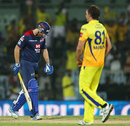 Ben Rohrer was dismissed by Albie Morkel for 4, Chennai Super Kings v Delhi Daredevils, IPL 2013, Chennai, May 14, 2013