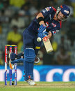 David Warner guides a ball through the onside, Chennai Super Kings v Delhi Daredevils, IPL 2013, Chennai, May 14, 2013