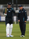 Hamish Rutherford talks with Mike Hesson, England v New Zealand, 1st Test, Lord's, May 14, 2013