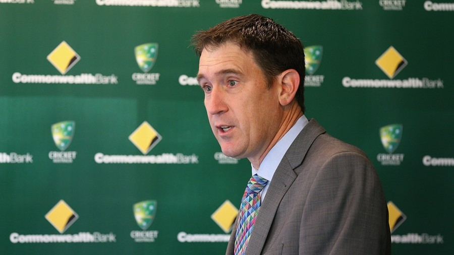 James Sutherland at the announcement of the Commonwealth Bank as Australia's major sponsor