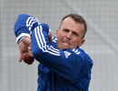 Graeme Swann in the nets at Lord's