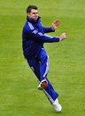 James Anderson throws during a fielding session