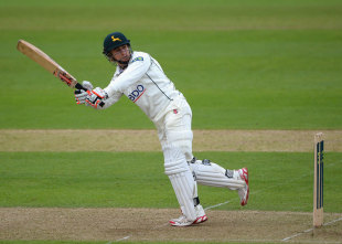 James Taylor struck nine boundaries in his 88-ball innings, removing Alex Hales, Nottinghamshire v Surrey, County Championship, Division One, Trent Bridge, 1st day, May, 15 2013