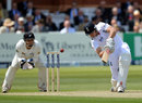 Nick Compton slices a shot off Bruce Martin to be dismissed, England v New Zealand, 1st Investec Test, Lord's, 1st day, May 16, 2013