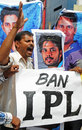 Cricket fans in Bangalore stage a protest after news of the spot-fixing scandal broke