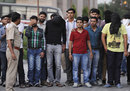 Alleged suspects in the IPL spot-fixing case are brought to a court in Delhi