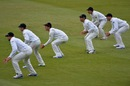 New Zealand's slip cordon for Tim Southee's hat-trick ball
