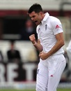 James Anderson celebrates his 300th wicket