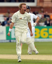 Neil Wagner gets pumped up after bowling Nick Compton, England v New Zealand, 1st Investec Test, Lord's, 3rd day, May 18, 2013