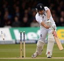 Nick Compton loses his off stump, England v New Zealand, 1st Investec Test, Lord's, 3rd day, May 18, 2013