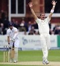 Tim Southee appeals unsuccessfully against Joe Root
