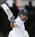 Joe Root raises his bat after getting to his fifty, England v New Zealand, 1st Investec Test, Lord's, 3rd day, May 18, 2013