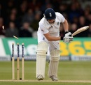 Johnny Bairstow was bowled by Tim Southee, England v New Zealand, 1st Investec Test, Lord's, 3rd day, May 18, 2013