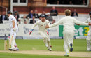 Kane Williamson bowled Jonathan Trott through the gate