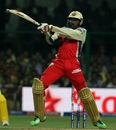 Chris Gayle powers one into the stands, Royal Challengers Bangalore v Chennai Super Kings, IPL2013, Bangalore, May 18, 2013