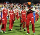 Chris Gayle leads his team for a lap around the ground