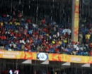 Heavy rains delayed the start of the match