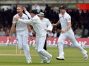Stuart Broad is delighted at removing Ross Taylor for a duck
