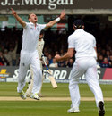 Stuart Broad's removed Brendon McCullum to complete a five-wicket haul before lunch