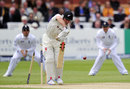 Hamish Rutherford lost his off stump to a jaffa, England v New Zealand, 1st Investec Test, Lord's, 4th day, May 19, 2013