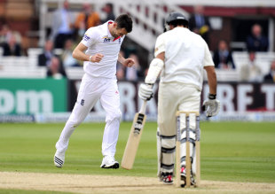 James Anderson's dismissal of Dean Brownlie was a high-class display of inswing and outswing