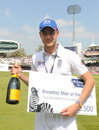 Stuart Broad claimed the man of the match award