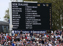 The scoreboard spells out James Anderson and Stuart Broad's dominance, England v New Zealand, 1st Investec Test, Lord's, 4th day, May 19, 2013