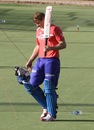 Shane Watson during a practice session at the Sawai Mansingh Stadium in Jaipur