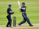 Ben Stokes pulls on his way to 87, Hampshire v Durham, Yorkshire Bank 40, Ageas Bowl, May 19, 2013