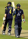 Jimmy Adams and Michael Carberry put on 133 together, Hampshire v Durham, Yorkshire Bank 40, Ageas Bowl, May 19, 2013