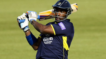 Michael Carberry fell four runs short of a century