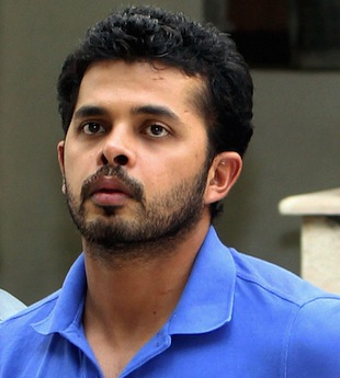 Sreesanth on Tuesday outside a Delhi court, which remanded him to a further five days in police custody