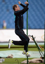 Tim Southee bowls during a net session