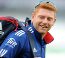 Jonny Bairstow leaves practise on his home ground, Leeds, May, 22, 2013