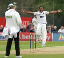 Chris Jordan appeals for the first of his two wickets
