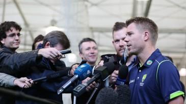 David Warner speaks to the media in Sydney, May 23, 2013
