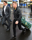 David Warner leaves after addressing the media Sydney, May 23, 2013