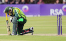 Nasir Jamshed struggles with a painful back, Ireland v Pakistan, 1st ODI, Dublin, May 23, 2013