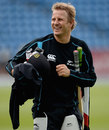 Neil Wagner has a bat at a practice session in Headingley