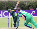 Asad Shafiq hits a shot over the top, Ireland v Pakistan, 1st ODI, Dublin, May 23, 2013