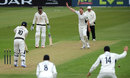 David Balcombe appeals unsuccessfully for the wicket of Simon Kerrigan, Hampshire v Lancashire, County Championship, Divison Two, Ageas Bowl, 2nd day, May 24, 2013