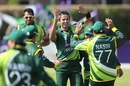 Asad Ali celebrates his first international wicket with team mates, Ireland v Pakistan, 2nd ODI, Dublin, May 26, 2013