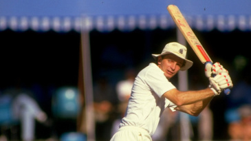 David Gower flicks behind square on his way to 68