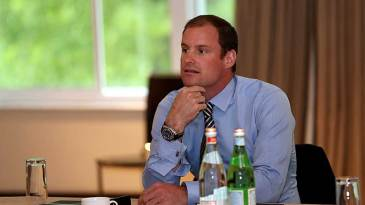 Andrew Strauss at the ICC Cricket Committee meeting at Lord's