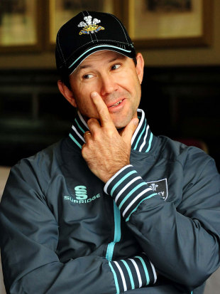 Ricky Ponting talks to the media before his expected Surrey debut, Derby, May 29, 2013